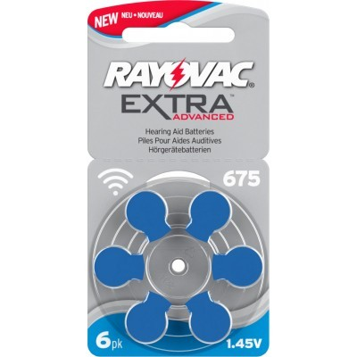 Батарейки для слуховых аппаратов Rayovac 675